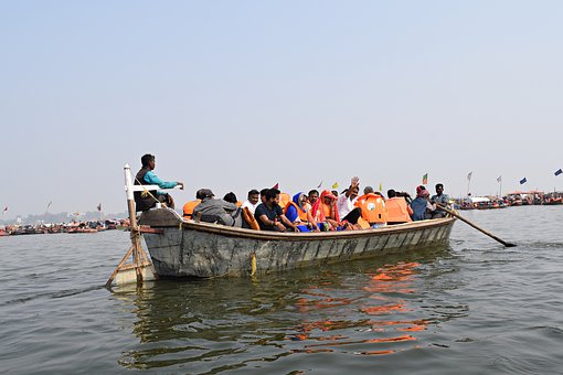 Boat, Pragraj, India, Culture, Religious, Hindu, Travel
