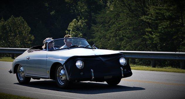 Classic, Vintage, Porsche, Trip, Vacation, Nostalgia
