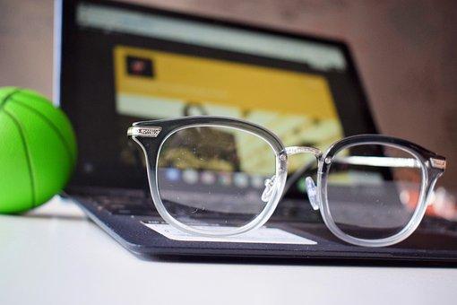 Glasses, Workstation, Chromebook, Computer, Desk