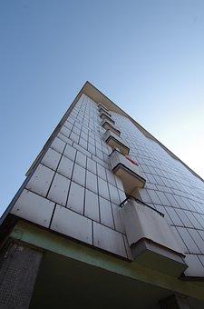 House, Skyscraper, Balcony, City, Facade, Modern