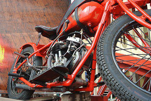 Motorcycle, Classic, Indian, Vehicle