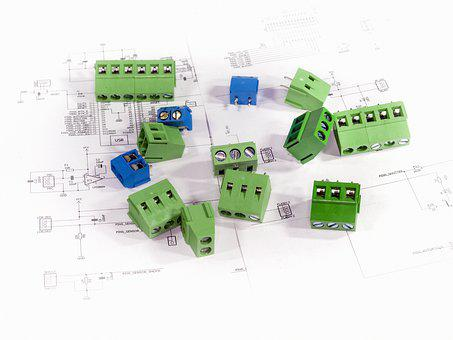 Electronic Components, Plugs, Connections