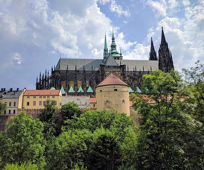 Prague, Castle, Czech, Medieval, Architecture