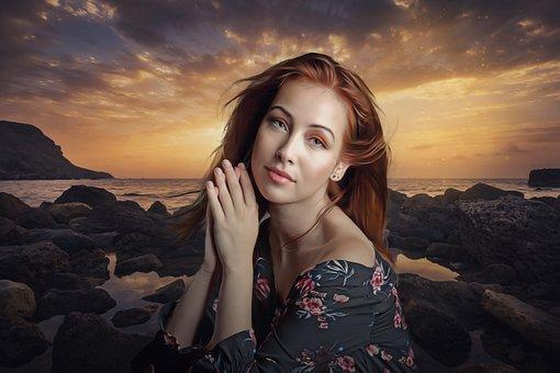 Portrait, Fantasy, Fantasy Portrait, Woman, Girl