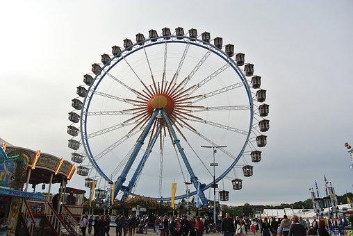 Wheel, Ferris Wheel, Oktoberfest, Festival, Year Market