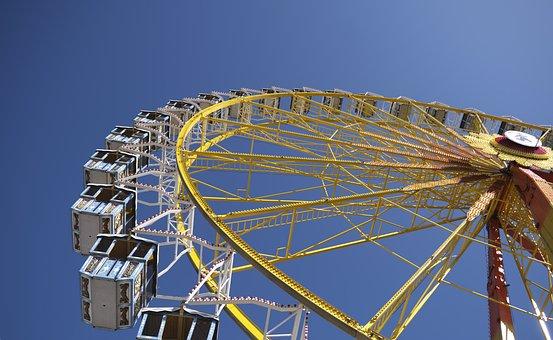 Ferris Wheel, Crailsheim, Folk Festival, Gondolas, Ride