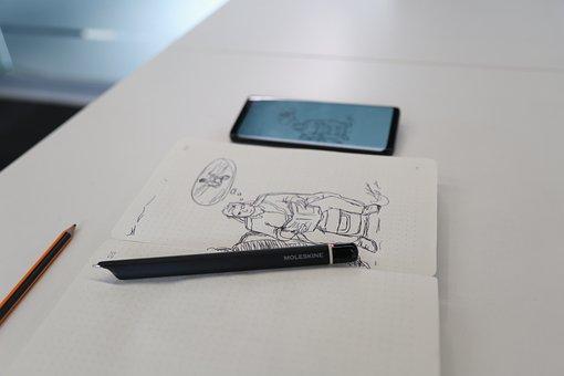 Address Book, Pencil, Note, Portable, Desktop, Table