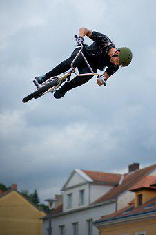 Jump, Bmx, Freestyle, Round, Sport, Extreme, Cycling
