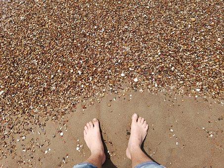 Foot, Holiday, Travel, Beach, Marine, Gravel, Stone