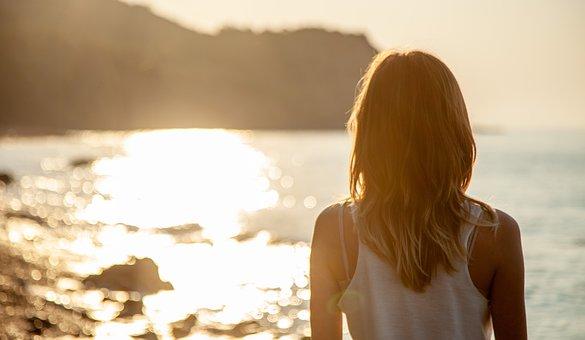 Sea, Sun, Girl, Vacation, Nature, Summer, Romance, Mood