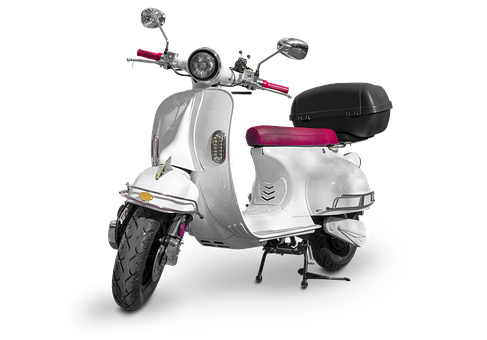 Scooter, Motor, White Scooter, Automotive
