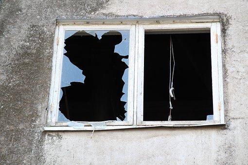 Window, Broken, Abandoned