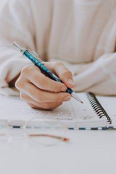 Write, Notebook, Pen, Woman, Hand, Paper