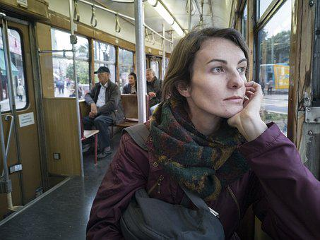 Woman, Portrait, Train, Tramway, Girl, Face, Young