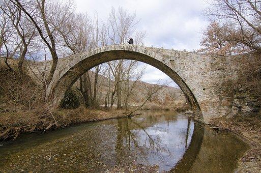 Bridge, Old, Stone, Architecture, Water, Idyllic