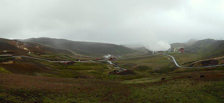 Power Plant, Iceland, Geothermal, Volcano, Country