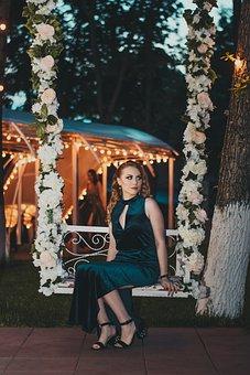 Wedding, Fashion, Portrait, Flower, Lights, Woman