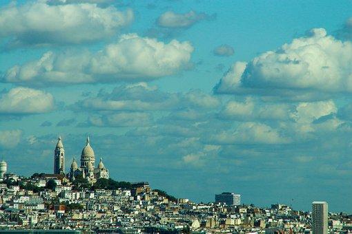 Paris, Church, City, France, Architecture, Building