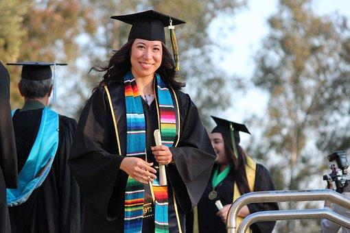 Graduation, College, Graduate, University, School