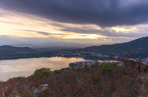 Kastoria, Greece, Landscape, Lake, Nature, Sky, Travel
