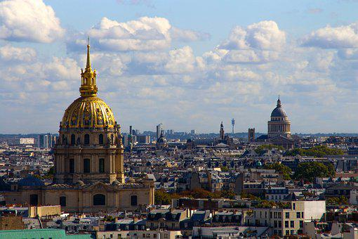 Church, Paris, Gold, Knoll, France, Architecture