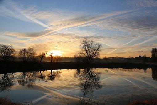 Morning, Lake, Landscape, Water, Nature, Sunrise, Rest