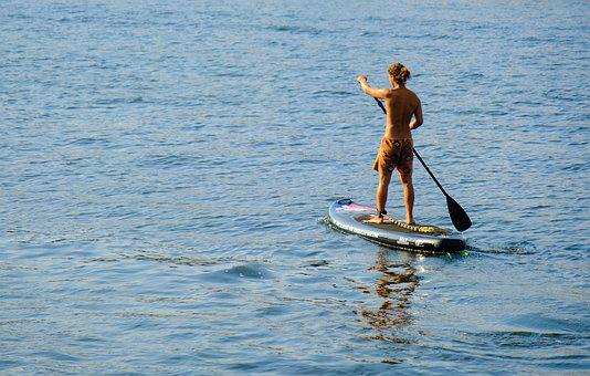 Standup Paddle, River, Water, Leisure, Sport, Movement