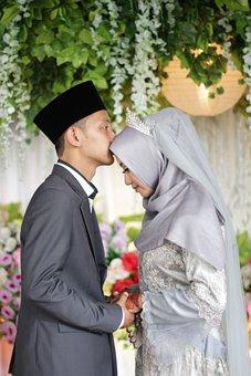 Wedding, Kiss, Couple, Love, Bride, Romance, Marriage