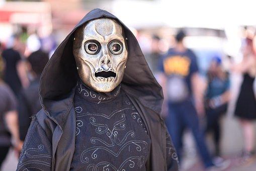 Day Of The Dead, Masked, Hood, Skeleton, Halloween
