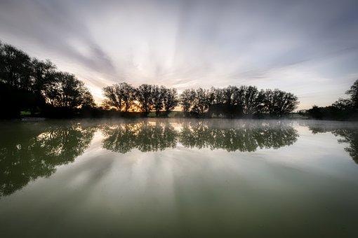 Lake, Silent, Rest, Reflection, Mirroring, Landscape