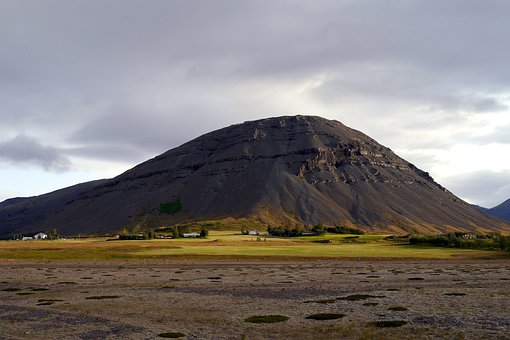 Mountain, Lava, Nature, The Sky, Meadow, Farm