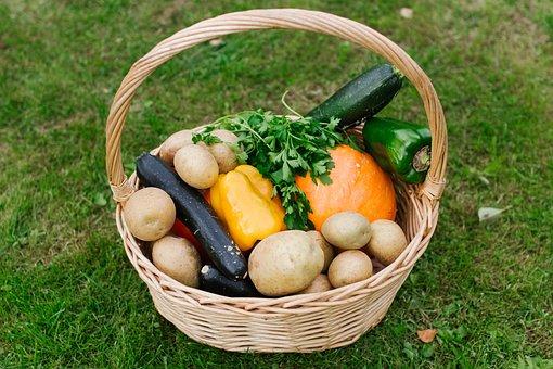 Basket, Vegetables, Food, Nutrition, Harvest, Healthy
