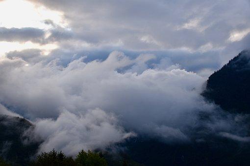 Mountain Landscape Misty, Mist, Panoramic Views