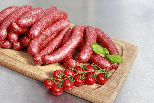 Sausage, Plate, Food, Snack, Dinner, Salami, Lunch