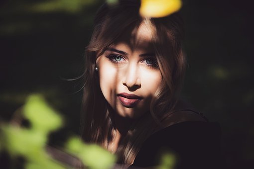 Model, Shooting, Woman, Girl, Forest, Eyes, Green