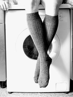 Socks, Knee-high Socks, Leg, Foot, Washing Machine