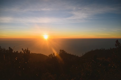 Sunrise, Morning, Dawn, Sky, Summer, Landscape