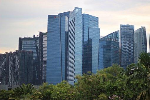 Singapore, Business Center, Business, Tower, Skyline