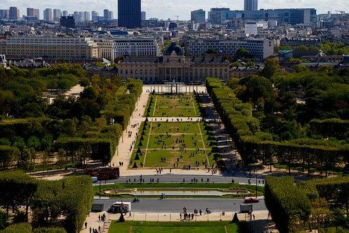 Park, Paris, Attraction, Nature, Human, Green, Trees