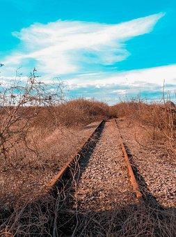 Way Of Train, Abandoned, Railway, Rails, Pathways