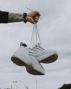 Shoes, Flying, Depend, White