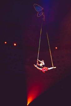Circus, Light, Acrobat, Show, Dark, Performance