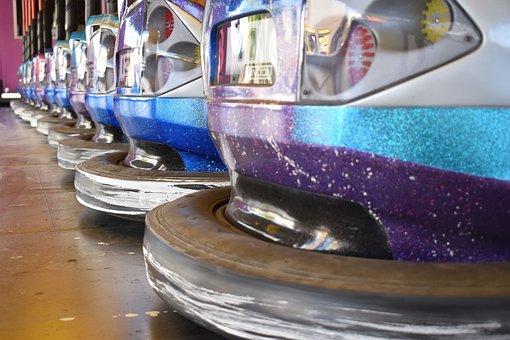 Autoscooter, Funfair, Bumper Cars, Fun, Colorful