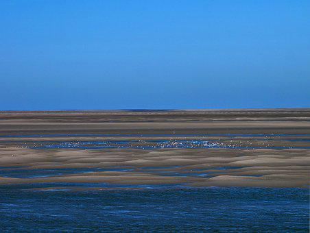 Bay Of Somme, Sea, France, Landscape, Beach, Blue