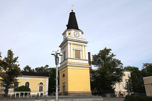 Architecture, Tampere, Belfry, Tower, Clock, Old