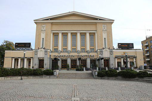 Tampere, Building, Theater, Architecture