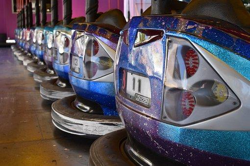 Funfair, Autoscooter, Bumper Cars, Car, Colors