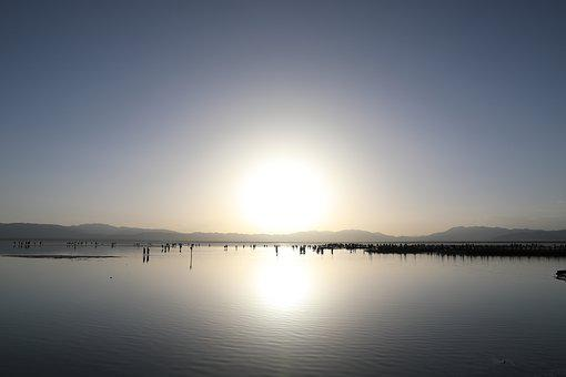 Caka Salt Lake, Sunset, Sunshine