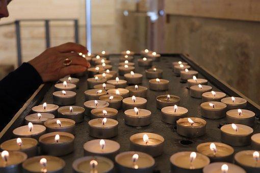 Candles, Church, Prayer, Light, Flame, Candle