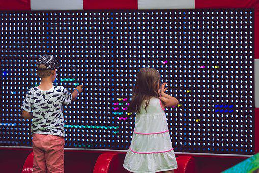 Kids, Interactive, Board, School, Playground, Indoors